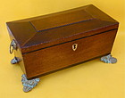 English Antique Regency Mahogany tea caddy c.1830