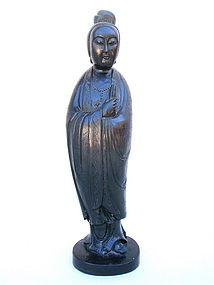 Chinese Zitan wood Buddha Bodhisattva statue