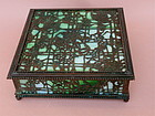 Louis Tiffany Studios N.Y. Bronze Art Glass box
