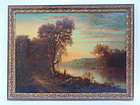 Hudson River School Oil painting by Thurston