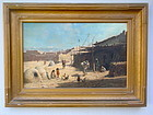 Taos Pueblo by Thad Welch 1889 Oil painting