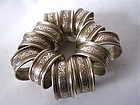 Alvin Sterling Repousse Napkin Rings set twelve