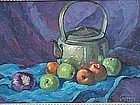 Quince Galloway California impressionist listed oil