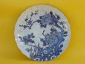 Japanese Arita Imari porcelain large bowl charger