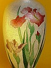 Japanese Ginbari Cloisonne Vase Iris signed