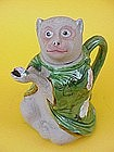 Japanese Art Banko pottery Monkey tea pot glazed