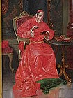 Italian Oil painting portrait of a Cardinal in interior