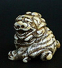 Japanese Netsuke Shishi Dog or Lion 19th century