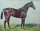 George Paice portrait of a race horse sporting art